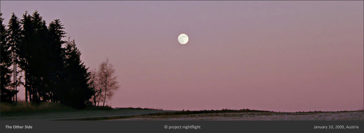 full moon rise in winter time by project nightflight