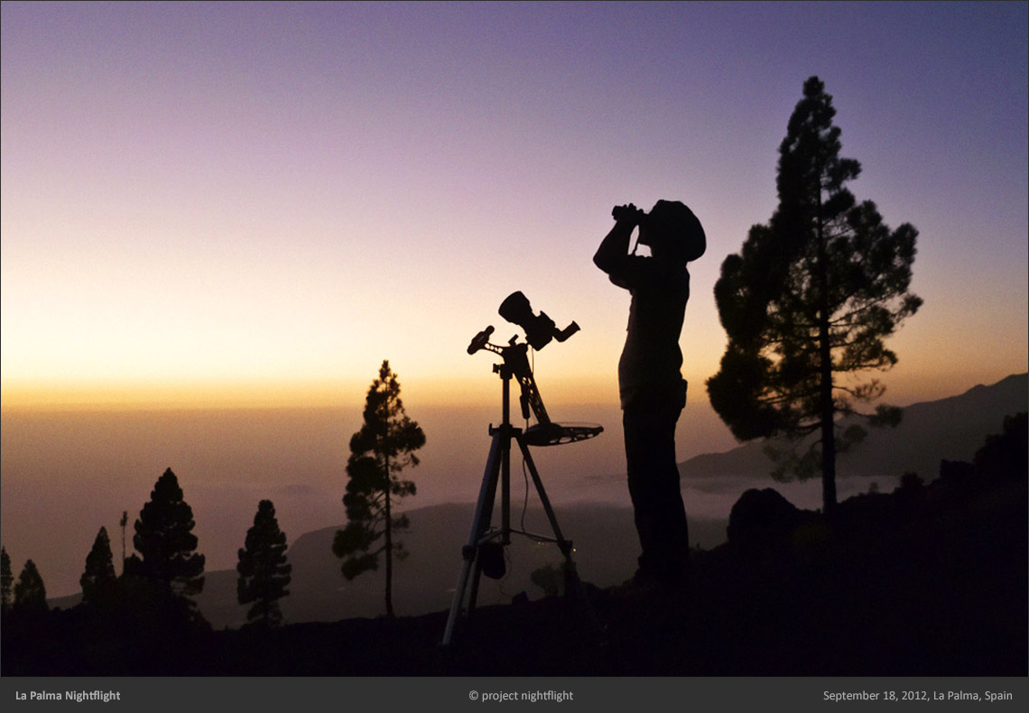 Setting up for astro imaging on La Palma island