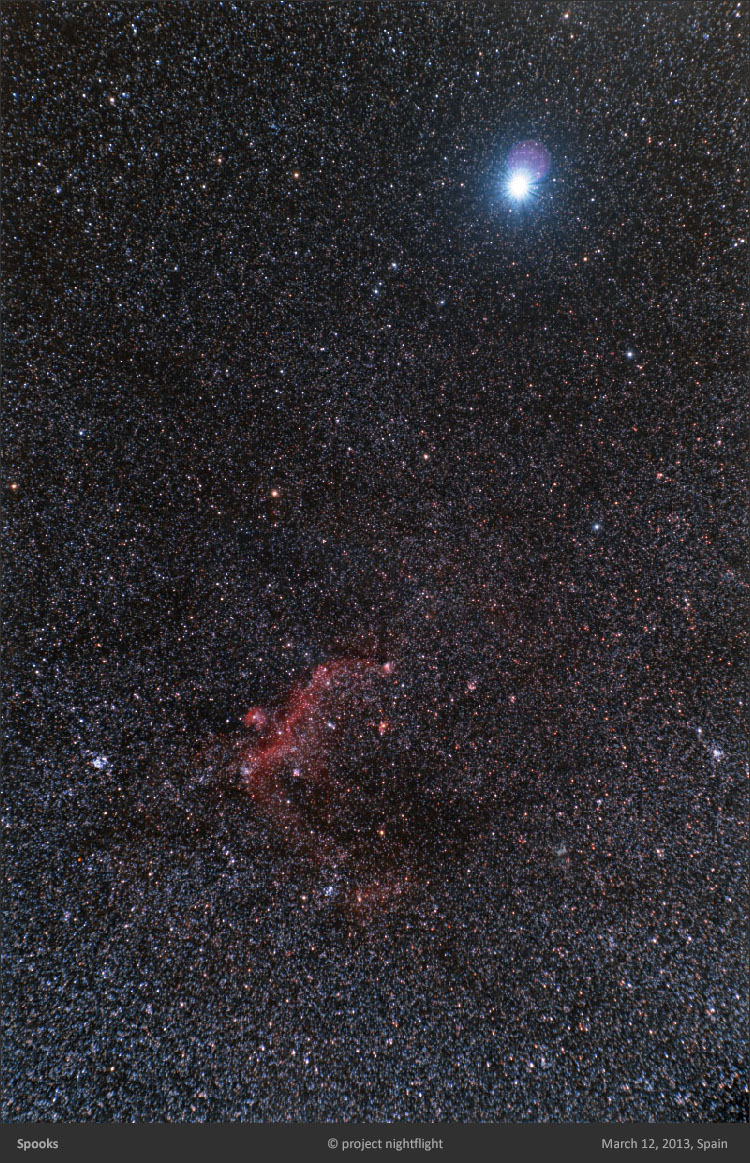 Sirius and Seagull Nebula by project nightflight