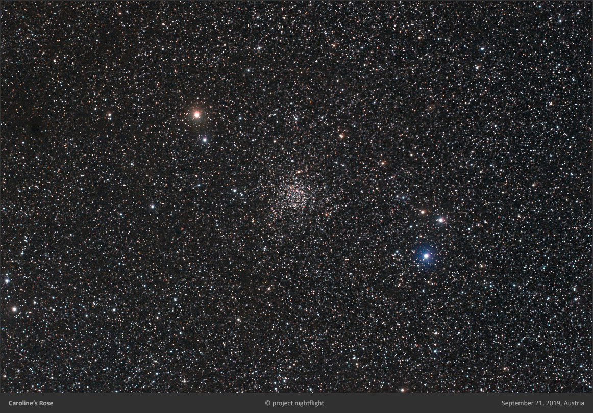 Open star cluster NGC7789 in constellation Cas